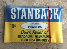 Vintage Advertising Stanback Powders New Old Stock Unopened 1960's 10 Cents