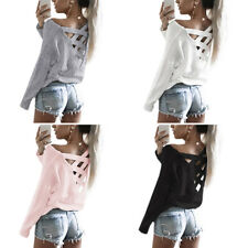 Casual T Shirt Long Sleeve Shirt Blouse Tops Womens New Fashion Loose