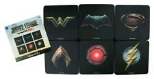 Ikon Collectables Justice League Movie - Full Team Logo Coaster, Set of 6