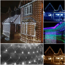 3Mx3M Connectable Fairy Net LED Lights Xmas Tree Party Garden 4 colours 8 Modes