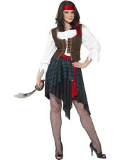 NEW Adult Sexy Caribbean Pirate Lady Ladies Fancy Dress Hen Party Costume Outfit