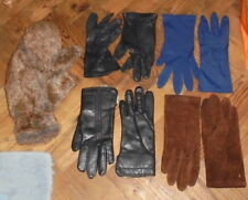 GLOVES mittens some new some vintage leather suede fur FREE POST