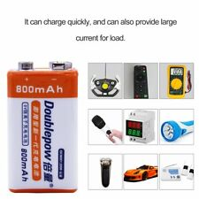 9V 800mAh Li-ion Rechargeable Battery For Helicopter Microphone Multimeter HX