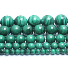 Natural Malachite Gemstone Beads Green Smooth Round Beads 6mm 8mm 10mm 12mm 15''