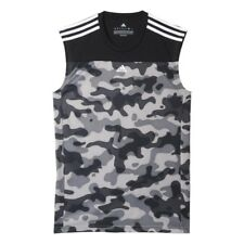 Mens adidas Base Sleeveless T-Shirt Camouflage NEW AJ5741