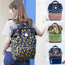 Japan Anello Pineapple Pattern Women Canvas Backpack Student Ruchsack School Bag