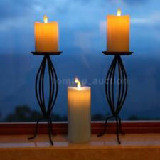Electric Adjustable Flameless LED Candle Light Flickering Flame Lamp Timer Y3Z0