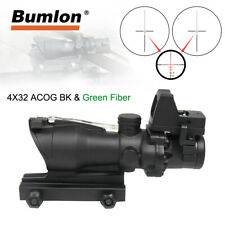 ACOG 4X32 Real Red Green Fiber Scope Ecso RMR Red Dot for Hunting Rifle Airsoft
