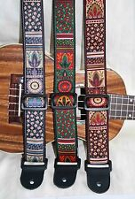 "Ukulele 1.5""wide Instrument Strap - Luxury Apache Collection"