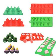 3D Chocolate Cake Mold Christmas Trees Mould Silicone Baking Decor Sugar Craft