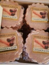 New Yankee Candle Tarts Wax Cinnamon & Sugar Box Lot of 24, Rare,Free Ship