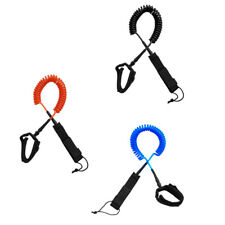 10 ft Surfboard Leash Coiled -SUP Stand Up Paddle Board Leash Leg Rope 7mm