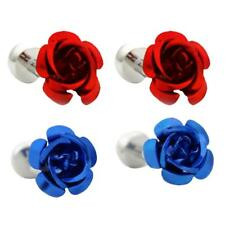 Cute Rose Flower Cufflinks For Mens Shirt Suit Wedding Party Cuff Links Gift