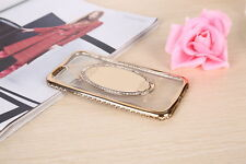 Woman Luxury Rose Gold Mirror Diamond TPU Cell Phone Case for iPhone 6 7 plus^v^