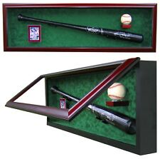 BASEBALL BAT, BASEBALL AND CARD DISPLAY CASE - A FAN FAVORITE DISPLAY CASE!