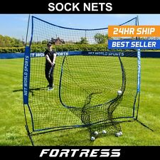 FORTRESS Baseball 7' x 7' Sock Net Practice Screen | Hitting & Pitching Training