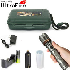 Tactical 20000LM XM-L T6 LED 5Modes 18650 Flashlight Torch Battery+Charger Lamp