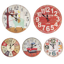 Retro Wood Round Diameter 30CM Home Bedroom Wall Decoration Mute Wall Clock