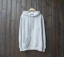 New Popular Unisex Young Cotton Design Long Sleeves Gray Color Sweats