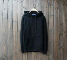 New Popular Unisex Young Cotton Design Long Sleeves Black Color Sweats