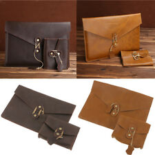 """PU Leather Laptop Sleeve Case Carry Bag for Macbook Air 11"""" Pro 13"""" Notebook"""
