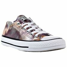 Converse Chuck Taylor All Star Ox Dusk Pink White Women Canvas Metallic Trainers