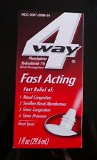 4 WAY Fast Acting NASAL SPRAY - allergy * PICK LOT of 1 2 3 5 or 10 (1oz bottle)