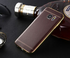 Slim Leather Design Soft Cover TPU Case Protector For IPHONE & SAMSUNG S6 S7 S8