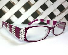 READING GLASSES MADE WITH SWAROVSKI CRYSTAL ELEMENTS +1.00 +3.00