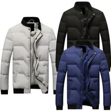 Mens Winter Cotton Padded Jacket Coat Slim Thick Casual Outerwear Parka Jacket