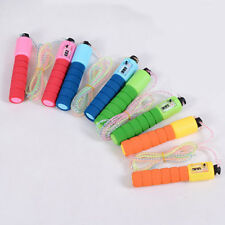 Foam Handle Skipping Rope Jumping Counter Exercise Fitness Gym Adjustable