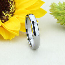 Men 4MM Comfort Fit Tungsten Carbide Wedding Band Classic Domed Ring