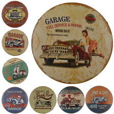 Vintage Metal Tin Sign Auto Car Pattern Decor Garage Home Wall Art Plaque