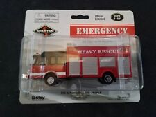 Ho Scale 1/87 Boley Fire Department Truck Red Heavy Rescue Die Cast Emergency