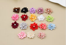 50PCS Bead Crystal Craft/Trim Satin HOT Ribbon with DIY Appliques 2016 Flower
