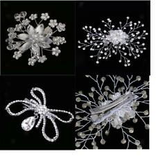 Rhinestone Lady Hairpin Bridal Pearl Hair Comb Crystal Flower Wedding Hair Clip