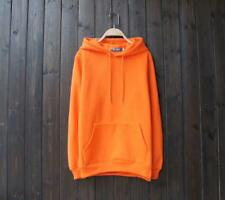 .New Popular Unisex Young Cotton Design Long Sleeves Orange Color Sweats XL