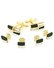 Onyx and Mother of Pearl Formal Tuxedo Cufflinks and Studs