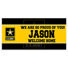 Welcome Home US Army Military Banner Party Backdrop