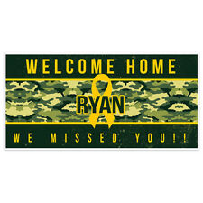 Welcome Home Big Ribbon Military Banner Party Backdrop