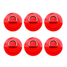 6pcs Stainless Steel D-ring Pad/Patch for PVC Inflatable Boat Raft Kayak