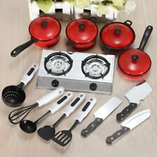 SALE 13Pcs Kids Play Toy Kitchen Utensils Pots Pans Cooking Dishes Cookware Gift