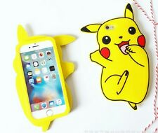 Pikachu Silica gel iphone Case For iPhone 6/6S Plus iphone 7 plus Cute Pokemon