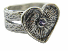925 Sterling Silver Ring Amethyst CZ Purple Stone spiritual Style for Women