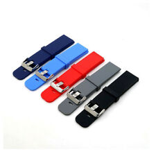 Soft Silicone Rubber Watch Strap Band Waterproof with Deployment Clasp Buckle