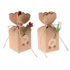 50x Kraft Paper Gift Boxes Small Present Candy Chocolate Box Wedding Party Favor