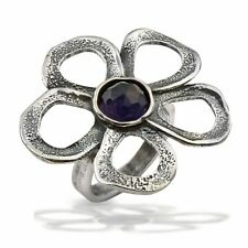 NEW Fine Sterling Silver 925 Ring nature Purple Amethyst