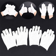 12Pairs White Inspection Cotton Lisle Work Gloves Coin Jewelry Coin Lightweight^