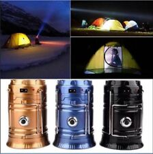 Solar Power Rechargeable LED Flashlight Camping Tent Light Torch Lamp Lantern