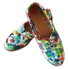 Disney Toddler Girls Mickey Mouse Bright Floral Boat Canvas Shoes